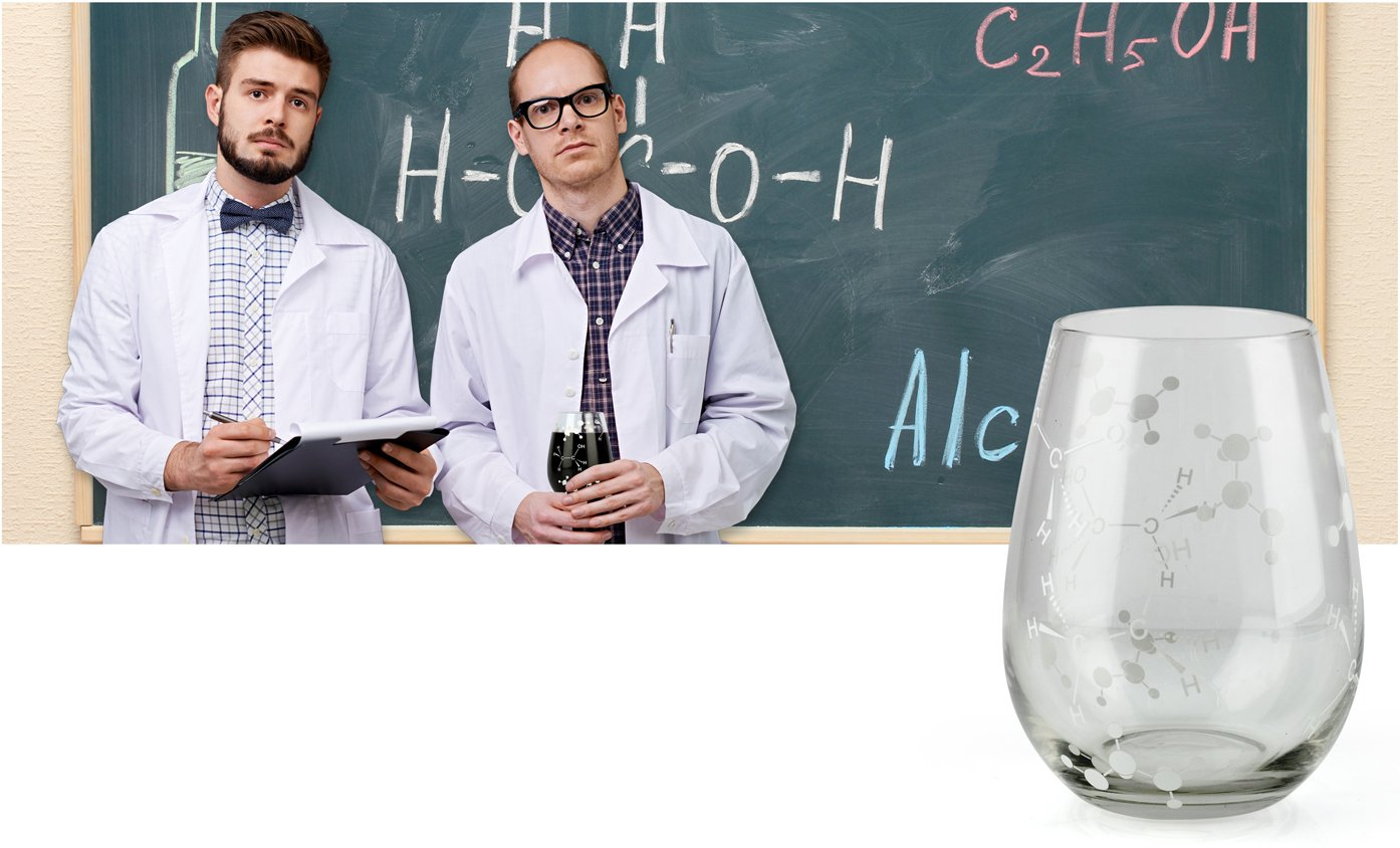 Doctors and all those in the Medical /& Research Fields UTU3BR0144 Barbuzzo Chemist Approved Stemless Wine Glass 21 Ounces Great Gift for Bio /& Chem Grads Bring Out Your Inner Nerd Geek or Chemist Nurses