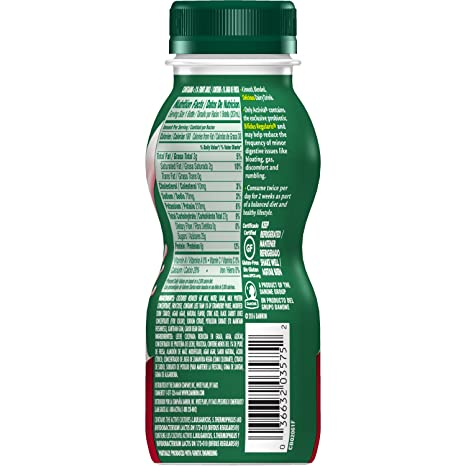 Dannon Activia Yogurt Drink, Strawberry, 7 Ounce Lowfat Probiotic Yogurt Smoothie, Flavored Yogurt Drink: Amazon.com: Grocery & Gourmet Food