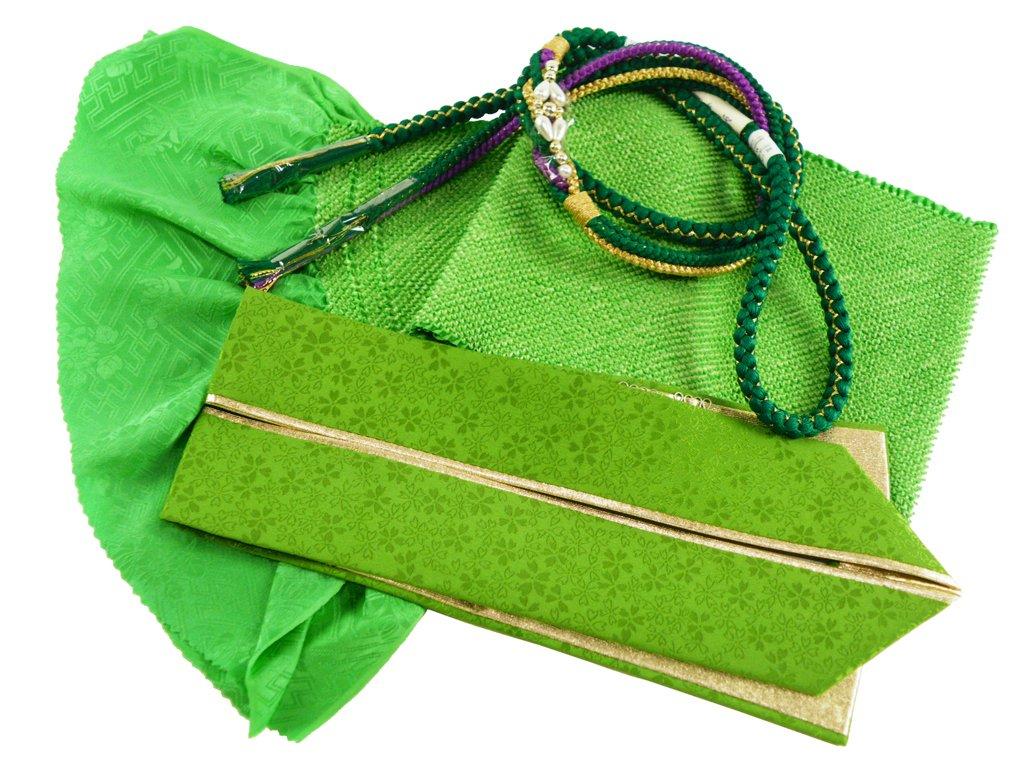 【さらさ】 振袖用 正絹 四ッ巻絞り 帯揚げ帯締め重ね衿 3点セット B076DB9BT7 h-357 h-357