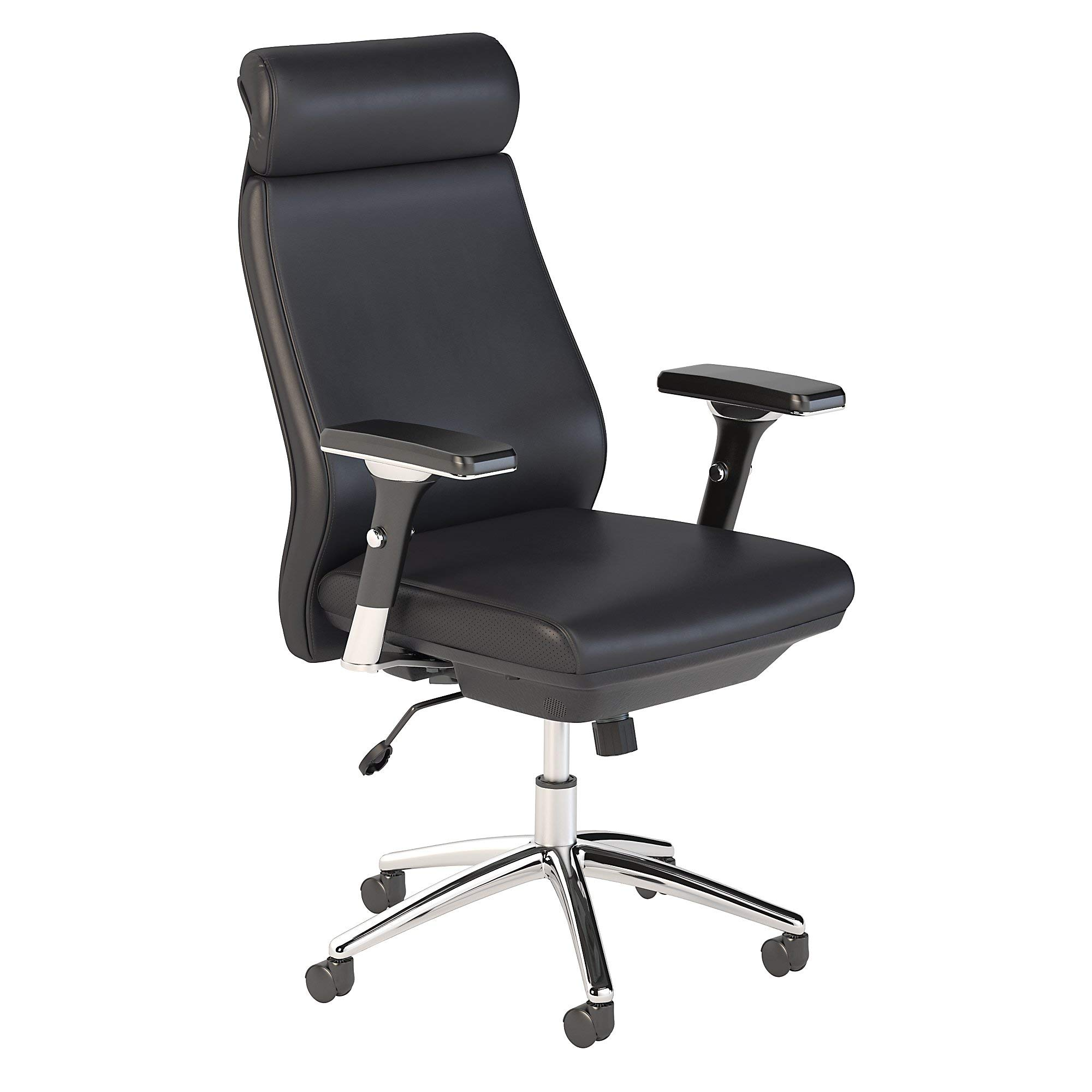 Bush Business Furniture Metropolis High Back Leather Executive Office Chair in Black by Bush Business Furniture