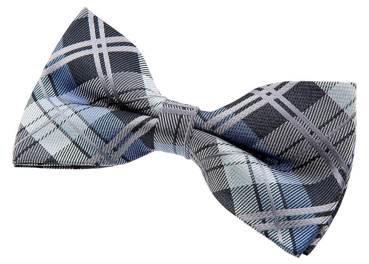 5 Retreez Elegant Tartan Plaid Check Woven Microfiber Pre-tied Bow Tie