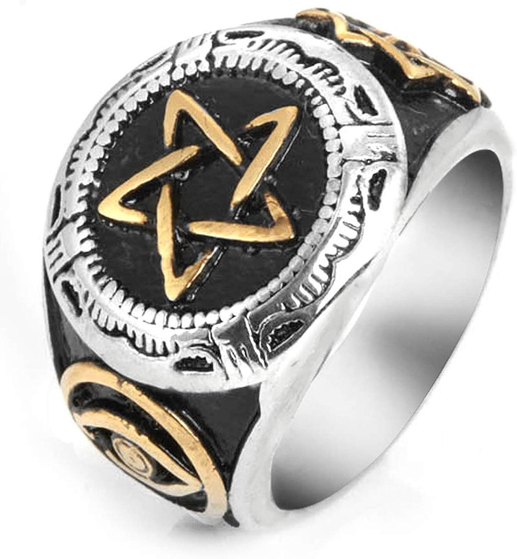Epinki Ring for Men Titanium Ring Star Ring Men Ring Band Men Accessories