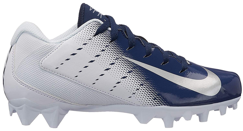 Nike Kids Vapor Varsity 3 Football Cleats (3.5, White/Navy)