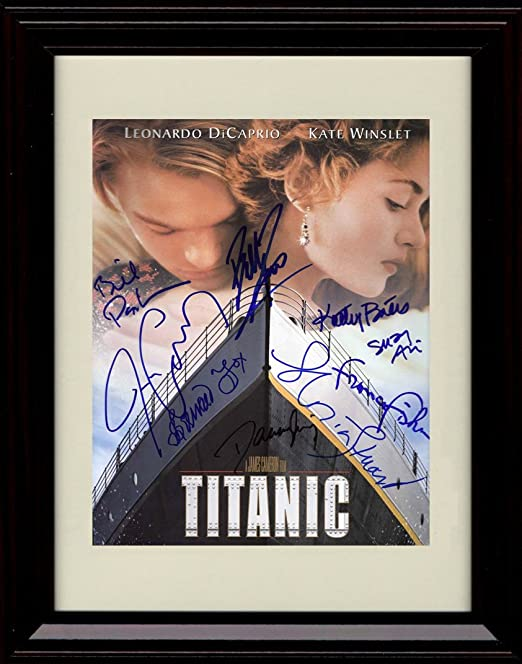 Amazon Com Framed Titanic Autograph Replica Print Cast Signed Movie Poster Winslett And Dicaprio Posters Prints