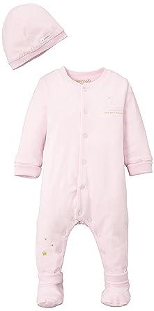 d886e85d94779 Berlingot Baby Girls 0-24m COFFRET DORS-BIEN DOUBLE JERSEY Plain Sleepsuit  Sleepsuit