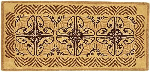 Minuteman International Art Deco Classic Wool Hearth Rug, Cocoa