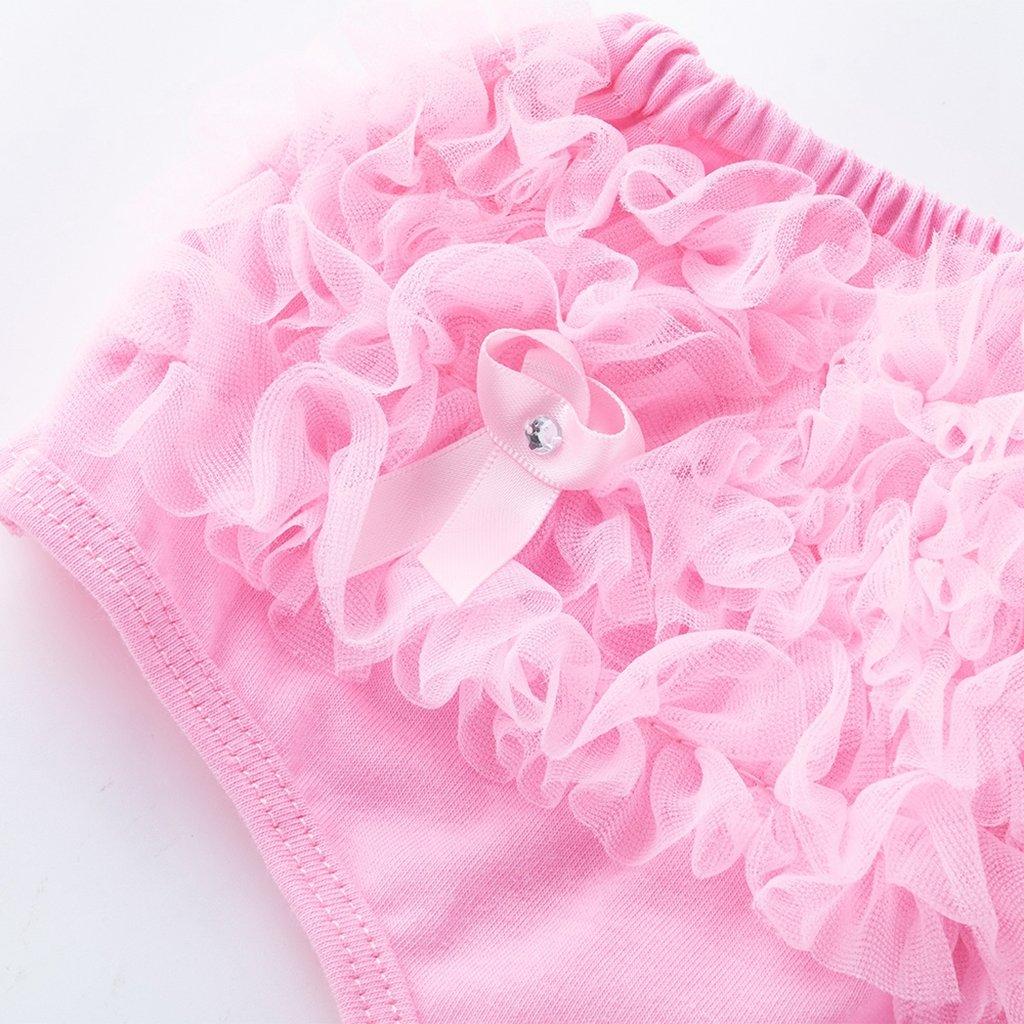 Rosado M por 0-6 meses Toygogo Ni/ño Beb/é Ni/ña Ruffle PP Pantalones Bow Bloomers Pa/ñal Pa/ñal Cubierta Bragas 0-24M