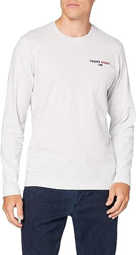 TALLA M. Tommy Jeans Tjm Longsleeve Corp Tee Camisa Hombre