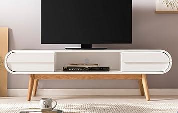 Unbekannt Salesfever Massive Tv Kommode Anniki 2 Schubladen Mdf
