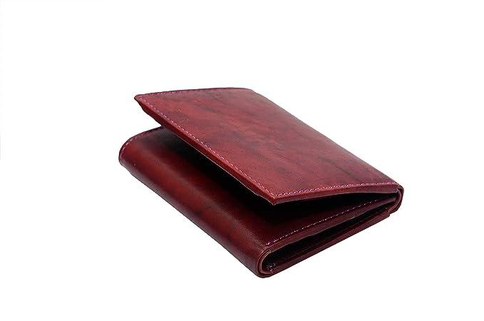 TOUGH Men's Leather Wallet  Maroon  Wallets