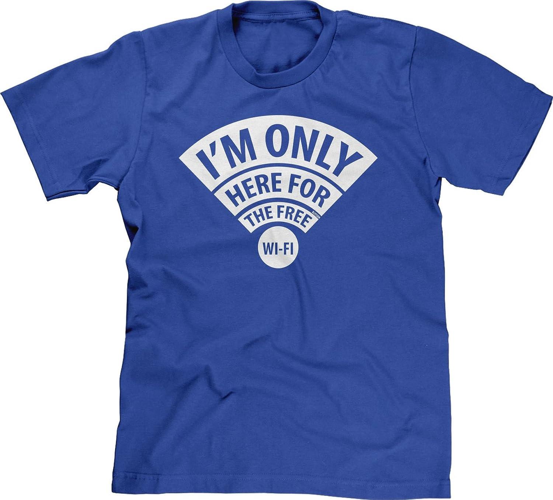 Blittzen Mens T-shirt Im Here For The Free WiFi