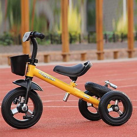 YMXLQQ Bicicleta para niños bicicleta de triciclo para niños (arriba con rueda de titanio)
