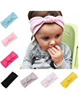 Lovinglove Baby Girls Cotton Turban Headbands (8 Pieces knot)