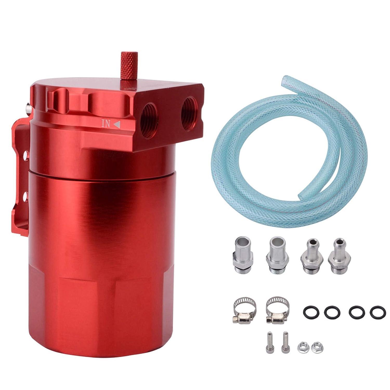 EVIL ENERGY Baffled Universal Aluminum Oil Catch Can Reservoir Tank Breather Filter Kit 280ml Speedwow Tuning
