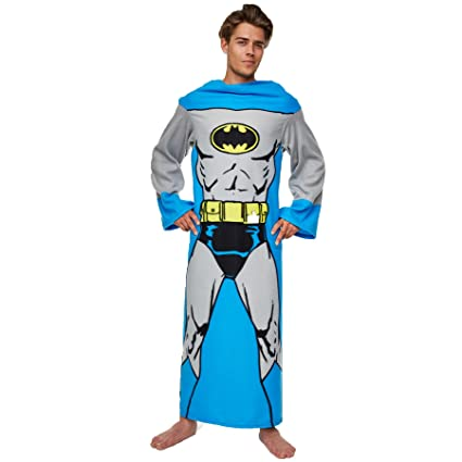 Batman Lounger DC Comics Blanket With Sleeves Cuddly Comfy Soft Fluffy Throw  for Bed Couch Sofa 16910bccc