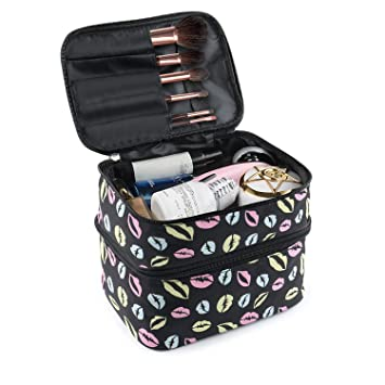Amazon.com: BESU - Neceser de doble capa, bolsa de ...