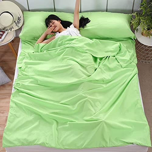 Camping Sleeping Bag Liner Lightweight Portable Clean Travel Sheet Sack for Hotel Train Trip Hiking Camping Outdoor Picnic