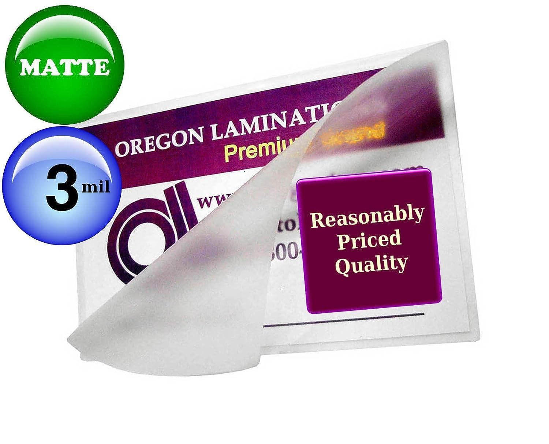 Oregon Lamination Hot Laminating Pouches Letter (pack of 25) 3 Mil 9 x 11-1/2-inch Matte/Matte Oregon Laminations Company LETTER 3M-QTR