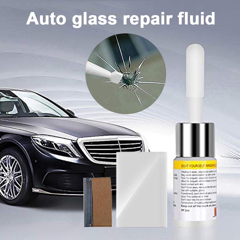 Rethyrel Auto Glasreparaturflüssigkeit Auto Auto Fahrzeugfenster Glas Windschutzscheibe Kratzriss Reparatur Polierwerkzeug Küche Haushalt