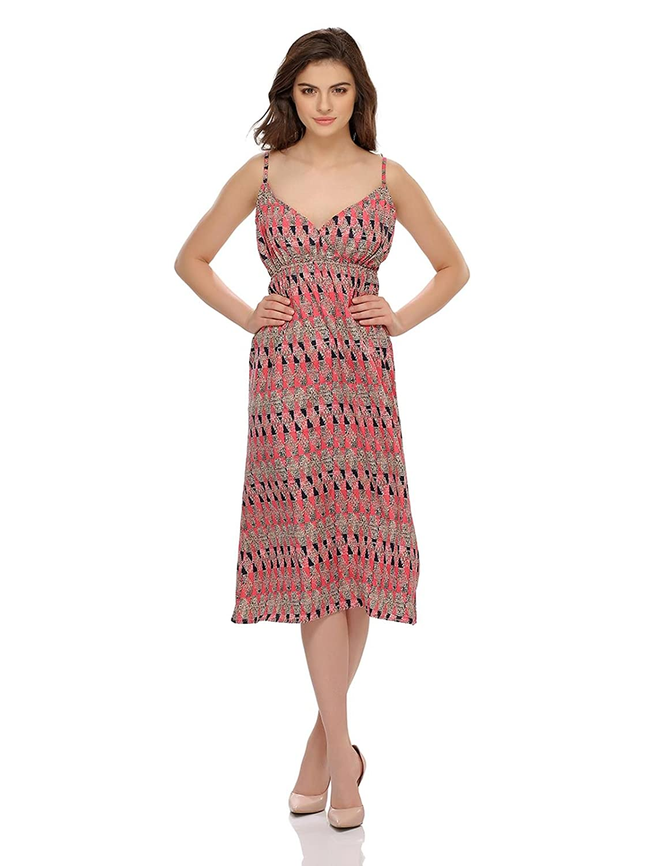 Clovia Women's Abstract Print Lovely Beach Dress