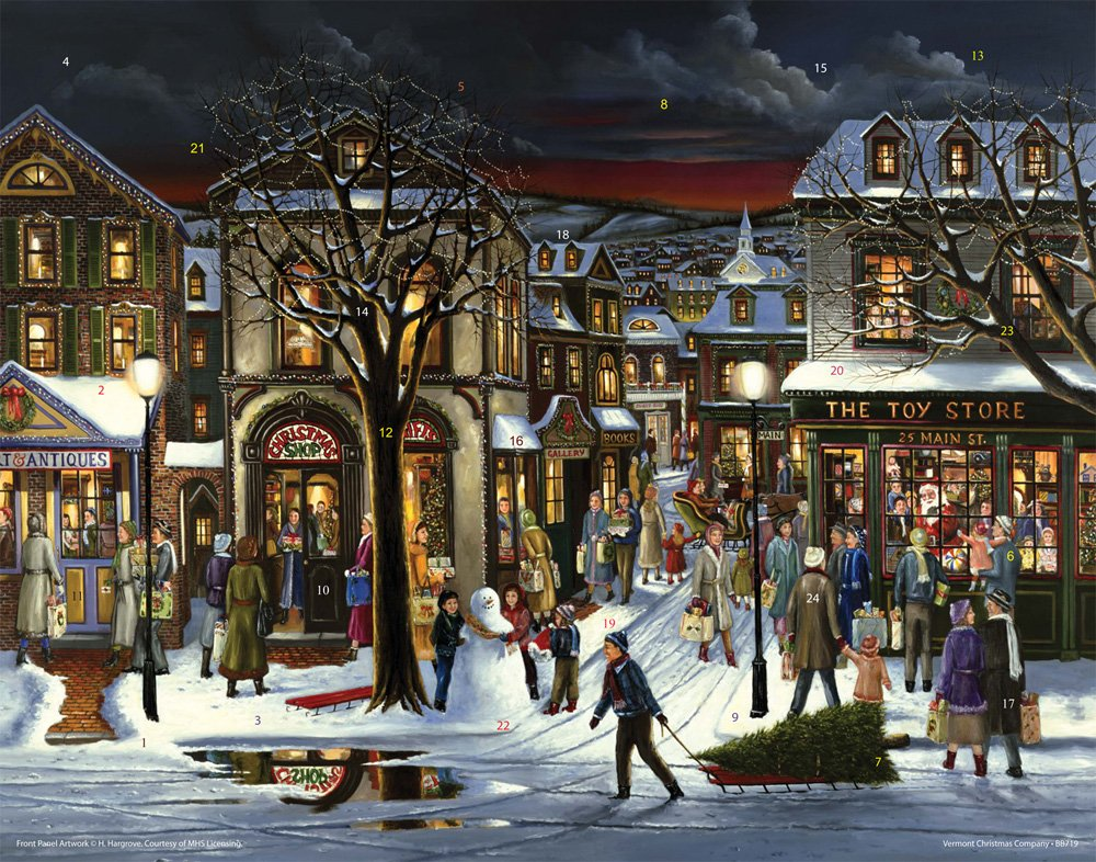 Downtown Christmas Advent Calendar Vermont Christmas Company