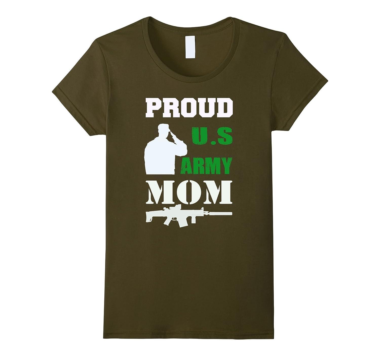 Womens Proud army mom tshirt national guard