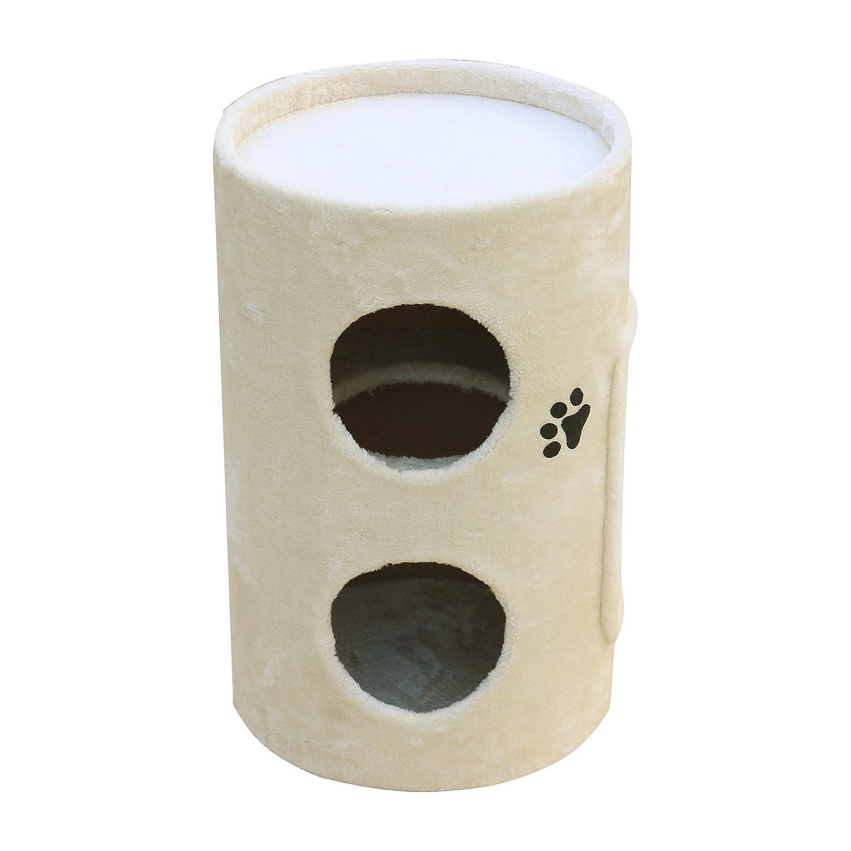 Woltu® # 664 Árbol del Gatos con caseta columnas tiragraffi juguete Parque Juegos para gato de peluche y sisal 2 colores: Amazon.es: Hogar