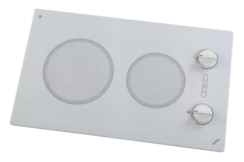 Kenyon B49510 6-1/2 and 8-Inch Alpine 2-Burner Cooktop with Analog Control UL, 120-volt, White Kenyon Appliances (Kitchen)