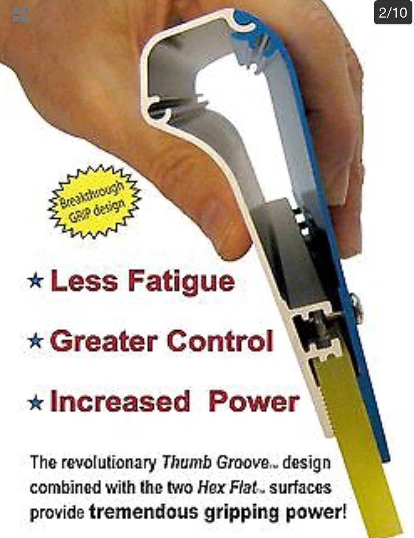 "6/"" squeegee Ergo Force aluminum handle 70 durometer included"