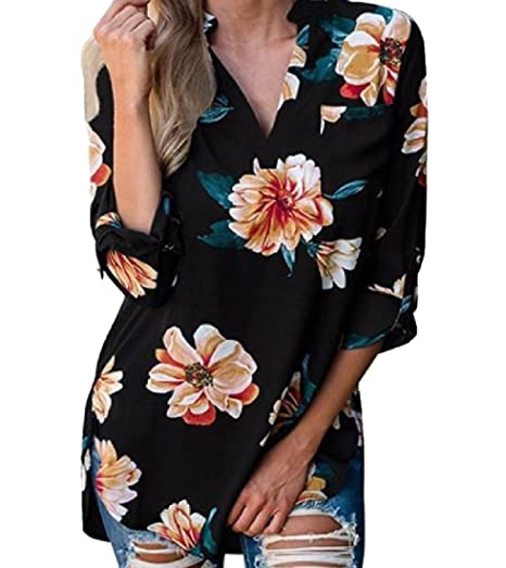 for whole family save up to 80% shades of DressU Women's Print V Neck Fashion Sexy Modern Tunic Tops ...