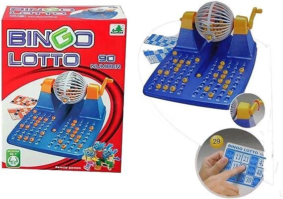 Allkindathings New Family - Máquina giratoria Grande para Bingo con 90 números y 48 Tarjetas: Amazon.es: Juguetes y juegos