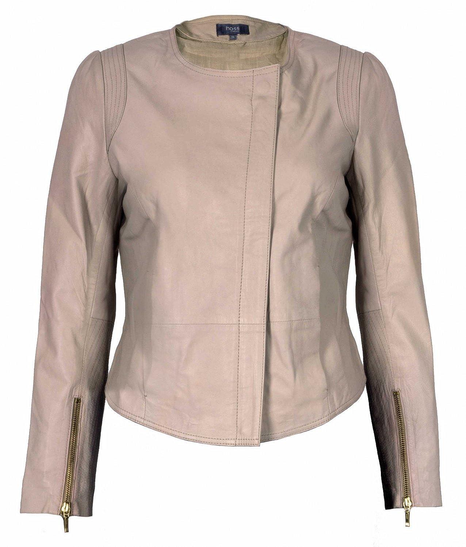 f1bf146fee Nude Leather Jacket: Amazon.co.uk: Clothing