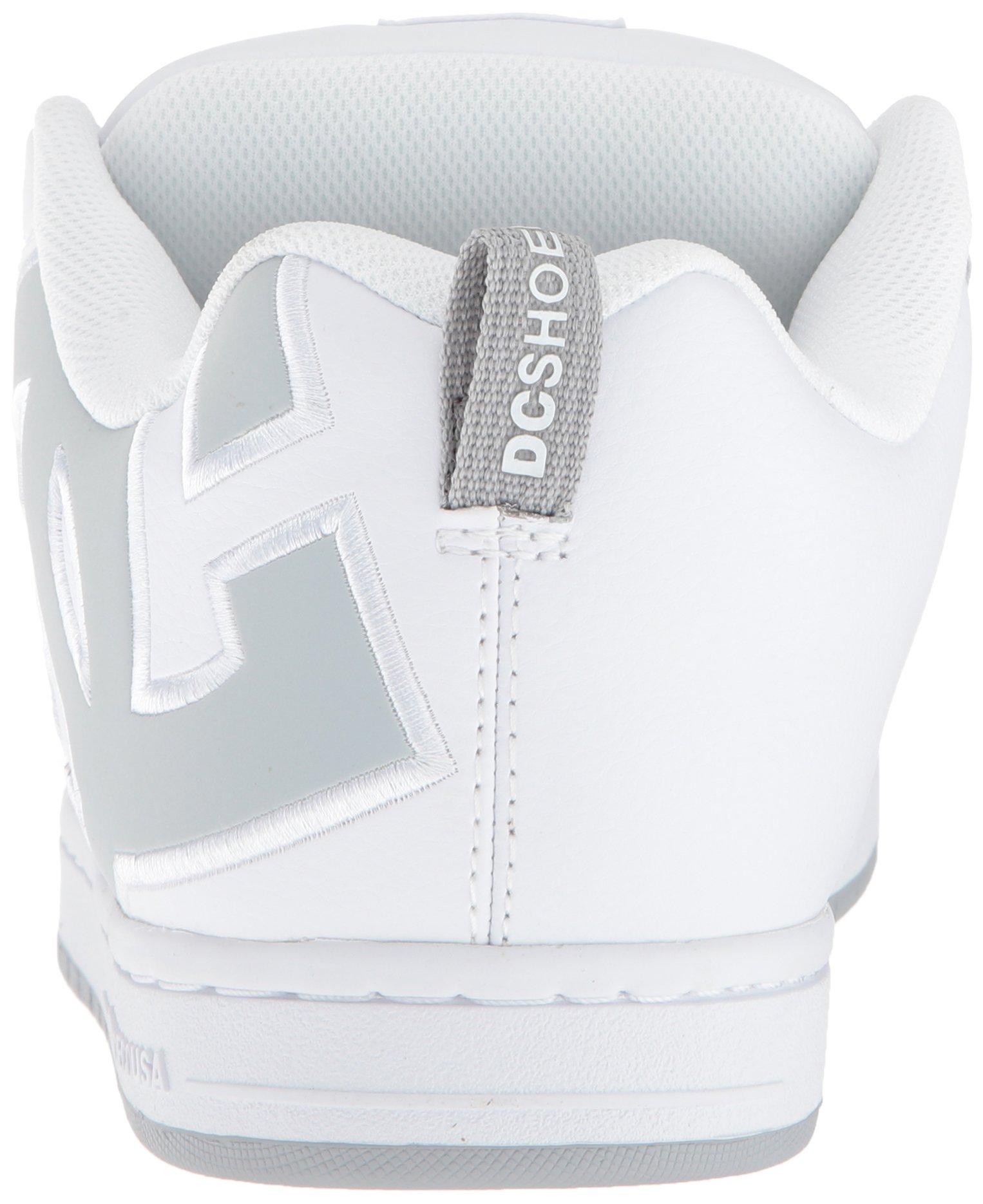 DC Men's Court Graffik SE Skate Shoe White Grey, 15 Medium US by DC (Image #2)