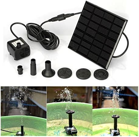 Solar Water Panel Power Fountain Pump Kit Pool Garden Watering lowers Submersibl