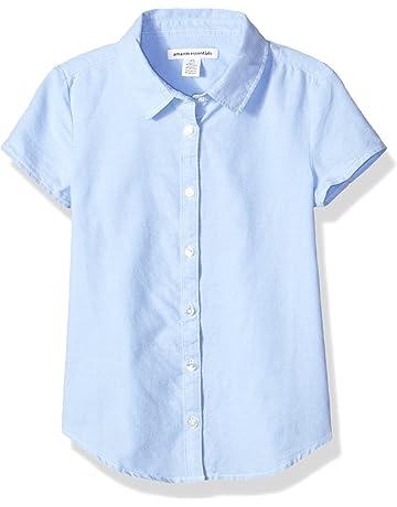 32654035f2e Amazon Essentials Girls' Short Sleeve Uniform Oxford Shirt