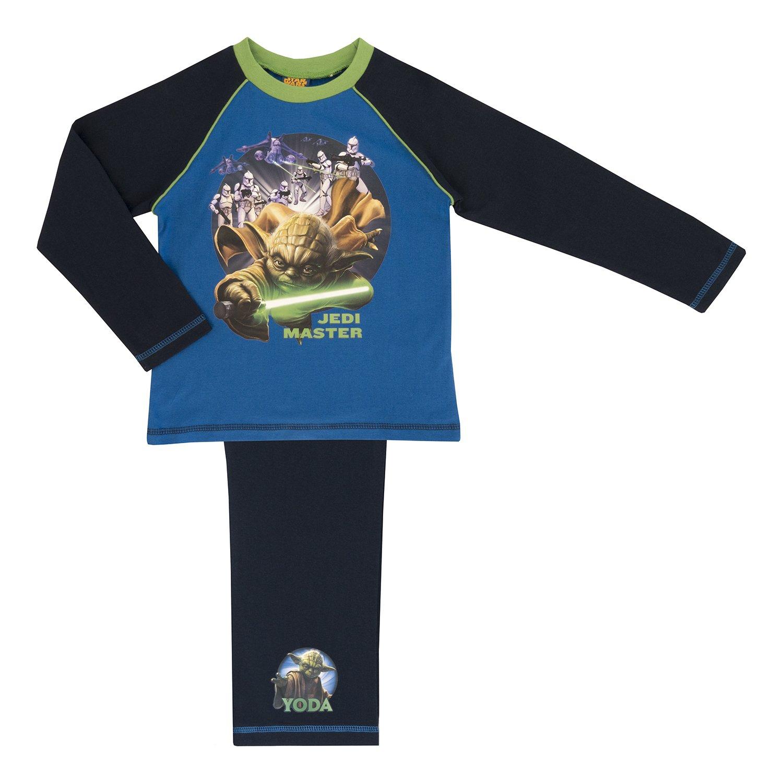 Childrens Star Wars Boys Pyjamas, 100% Cotton, Age 4-10 Years V - Yoda 5-6 Years