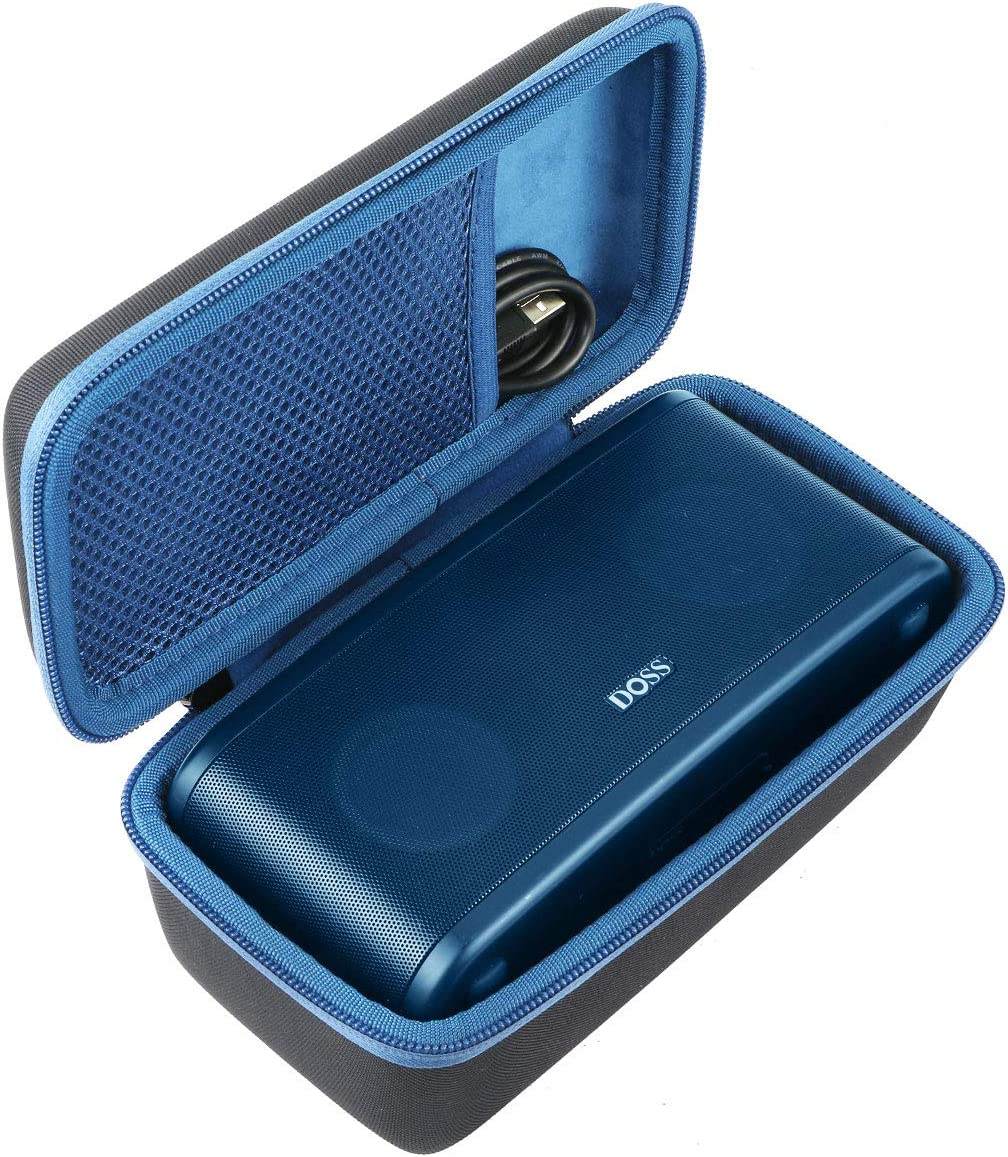 Khanka Hard Travel Case Replacement for DOSS SoundBox Plus Portable Wireless Bluetooth Speaker Blue Zipper