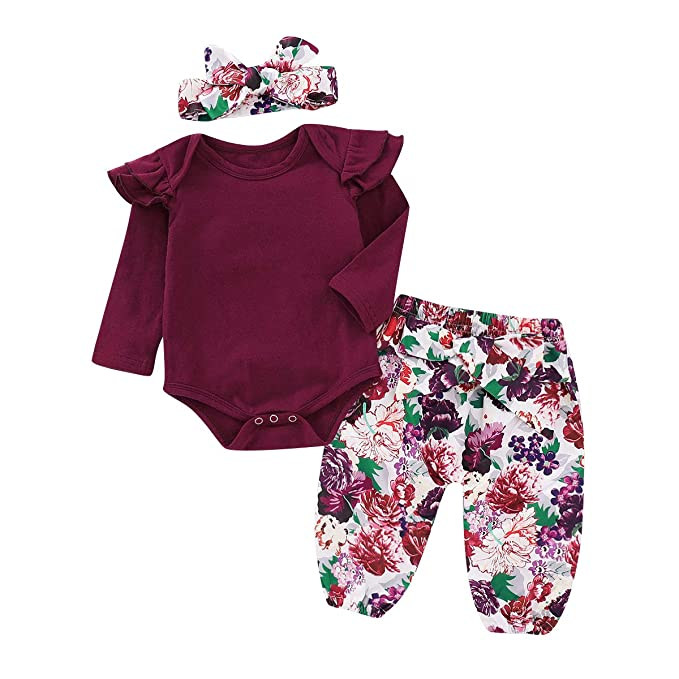 Mother & Kids Infant Baby Girl Clothes Set Off Shoulder Top T-shirt Shorts Cotton Headbands 3pcs Clothing Baby Girls Outfits Traveling