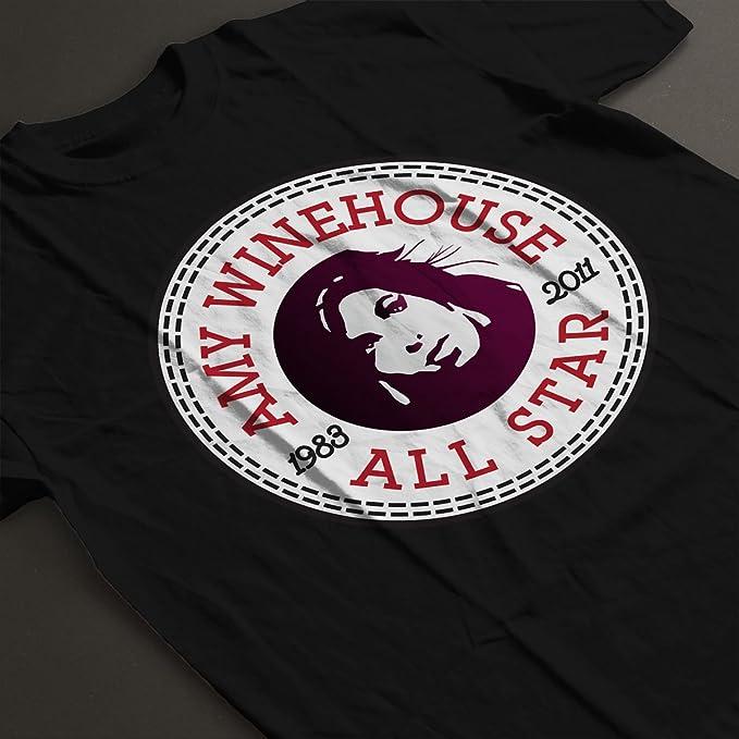 Amy Winehouse All Star Converse Logo Men's T-Shirt: Amazon.es: Ropa y  accesorios