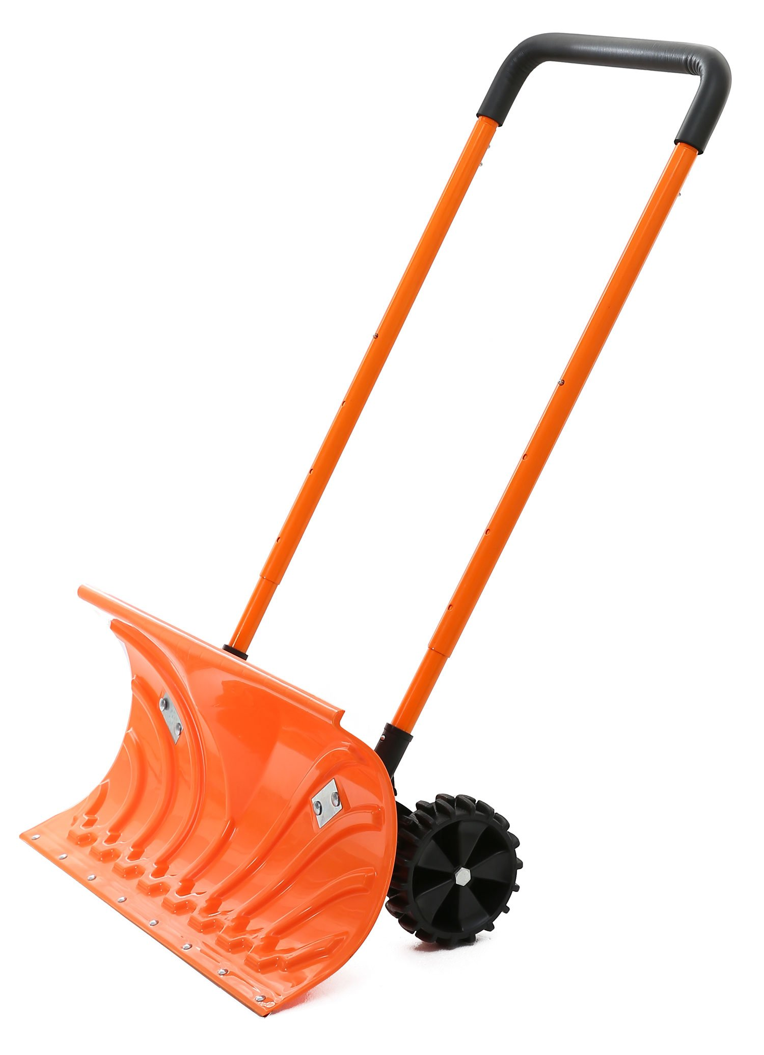 Snow Plow Shovel Pusher with Wheels – Snow Removal Tools for Driveway as a Heavy Duty Wheeled Rolling Snow Pusher to Clear the Snow on Driveway Sidewalk or Slippery Roads Effortlessly by Perfect Life Ideas