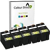 5 Gros Noir ( 2711 ) Colour Direct Compatible Cartouches d'encre Remplacement Pour Epson WorkForce WF-3620 WF-3620DWF WF-3640DTWF WF-7110DTW WF-7610DWF WF-7620DTWF WF-7620TWF imprimantes. 27XL