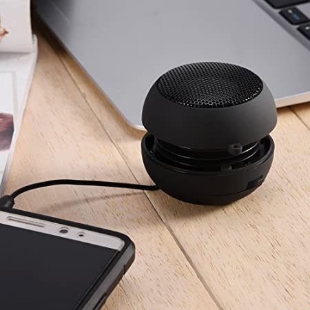 White Ciglow Lightweight Mini Portable Travel 3.5mm Loud Speaker Built-in Battery for Mobile Phone MP3 PC