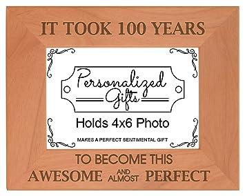 Amazon.com: 100º cumpleaños regalo Took 100 años Madera ...