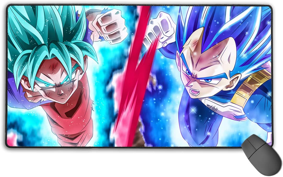 Large Mouse Pad Dragon Ball Super Vegeta Gaming Mousepad for Computer PC and Keyboard Laptop-29.5x15.7x0.1IN