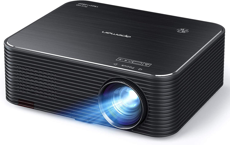 Projector, APEMAN Native 1920x1080P HD Portable Projector, Support 4K, 300