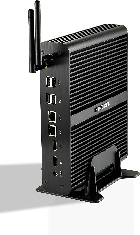Kingdel Intel 5th Generation i7 CPU, 4K HTPC, Fanless Mini Box PC with 16GB RAM, 256GB SSD, 2xHD Ports, 2xLAN, 1xSPDIF, 4xUSB3.0, Wi-Fi, Windows 10 Pro