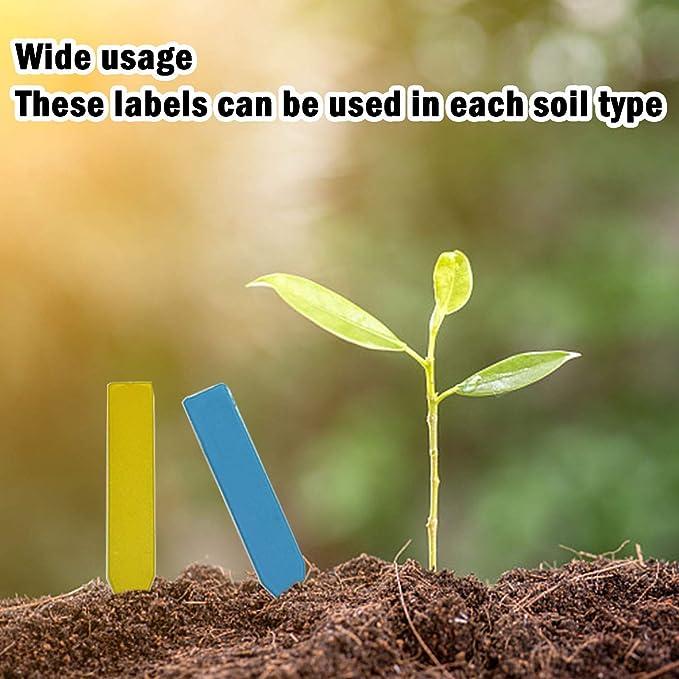 Hapree Etiquetas de Plantas, Plástico Árbol Etiquetas Colgantes ...