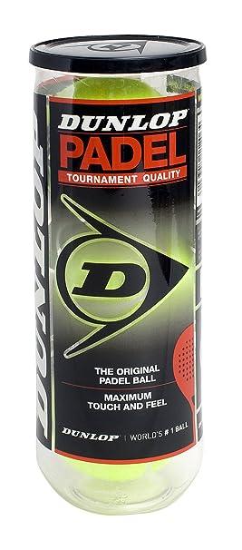 Dunlop - Bote de 3 pelotas de pádel: Amazon.es: Deportes y aire libre