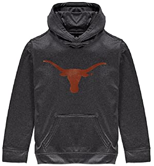 Texas Longhorns Charcoal Silhouette Synthetic Poly Hoodie Sweatshirt by 289c (X-Large)