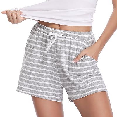 Aibrou Pantalones de Pijama Corto para Mujer Pantalon de Algodón Verano a Rayas: Ropa y accesorios